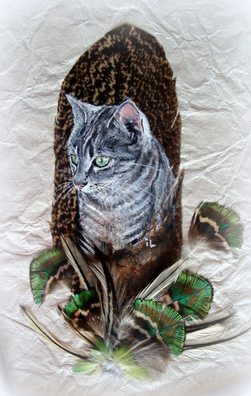 chat sur plume